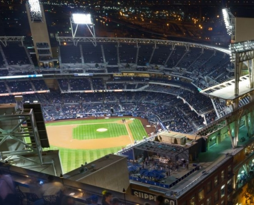 San Diego Petco Park from ALTITUDE Sky Lounge