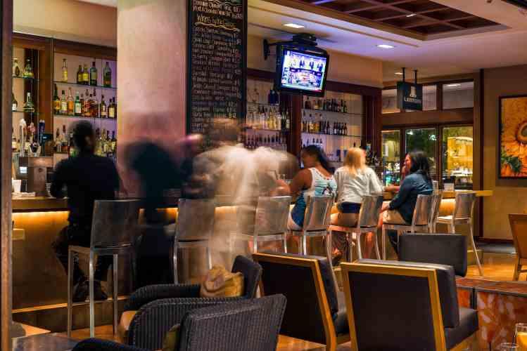 Enjoy refreshments inside Latitude Lounge