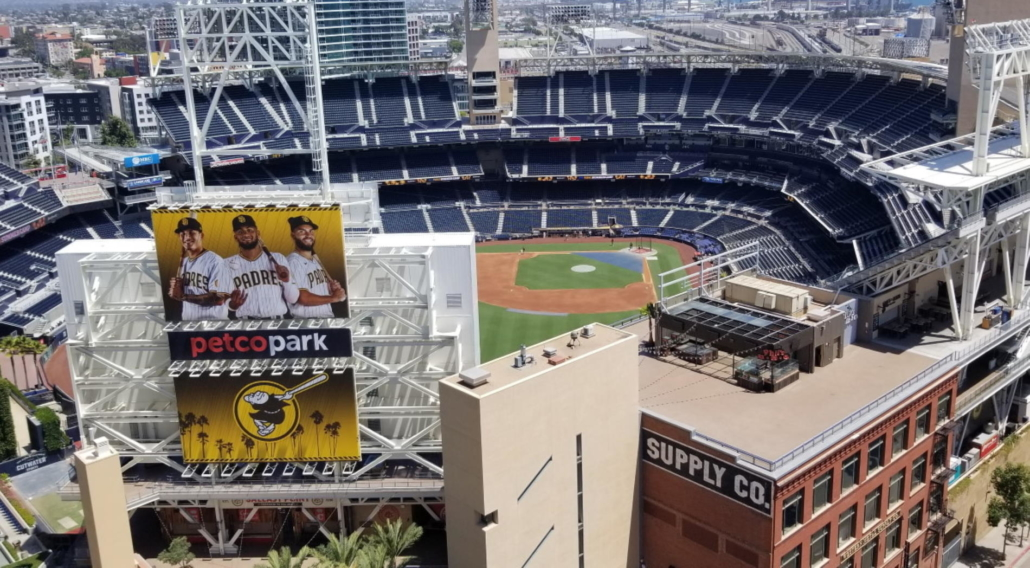View of Petco Park from View from ALTITUDE Sky Lounge.